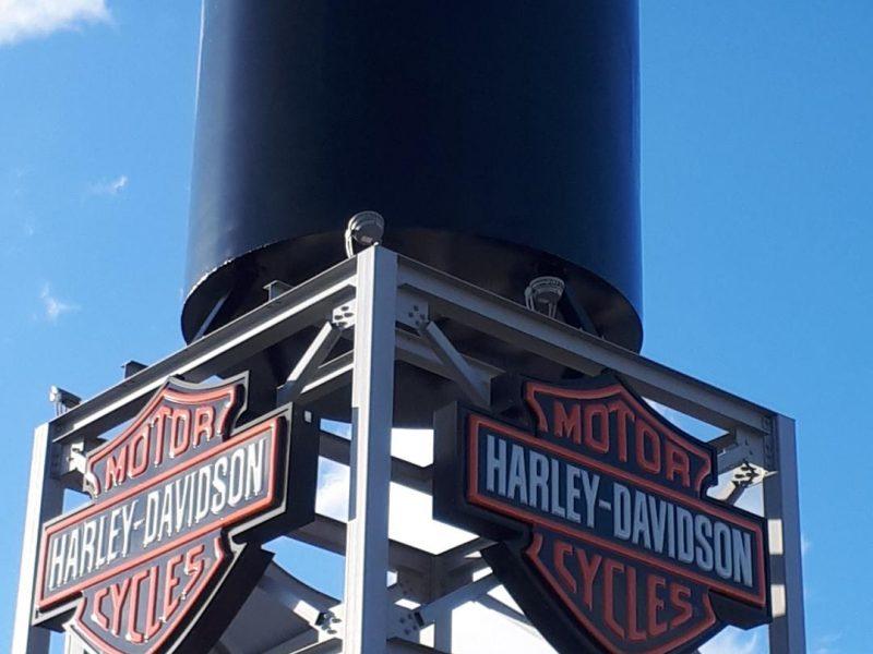 Peinture enseigne Harley Davidson