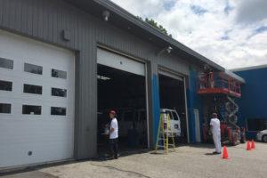 Peinture de garage extérieur en Estrie