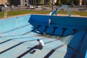 Nettoyage et peinture de piscine